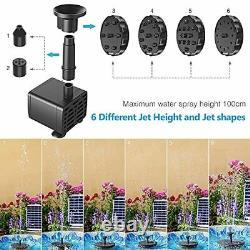 Pompe À Fontaine Solaire 5.5w Aérateur Bain D'oiseau Jardin Pond Réservoir De Poisson Aquarium