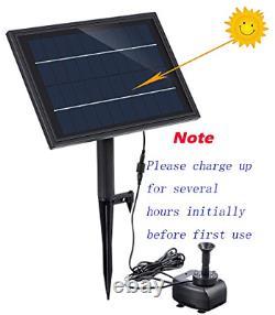 Pompe Solaire De Fontaine De Secours De Batterie De Lewisia Avec L'éclairage Led Pour L'étang De Koi De Piscine