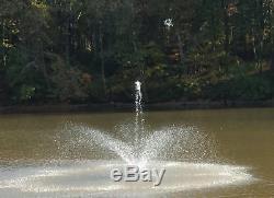 Pro Sur Mesure Ft 6000 Étang Flottant Fontaine Et Aérateurs Jardins-100' Kit-eau Cordon