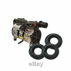 Rocking Piston Étang 1 / 2hp Rapide Système D'aération Sink Tubes No Diffuseurs Pa66wld