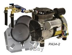Rocking Piston Étang 1/4 HP System Deux Tubes Diffuseurs Aeration Et No Pa34-2