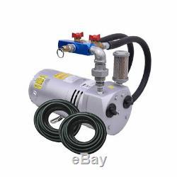 Rotary Vane Étang 1/4 Kit System- Aeration HP Avec Évier Rapide Tubes Pa50wld