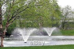 Scott Aérateur Da 20 Affichage Étang Aérateur Fontaine 1 1/2 HP 230v Avec 200 Pieds