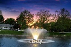 Scott Aérateurs 3 Light Set Night Glo Led Résidentiel Etang Fontaine Lumières Avec 10