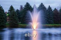 Scott Aerator Amherst Fontaine D'eau Avec Des Lumières Changeantes De Couleur 3hp 100' Cord 230v