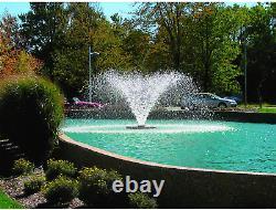 Scott Display Pond Aerator Fountain, 1/2 HP Grande Fontaine D'étang 70ft Cord