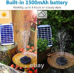 Solar Funtain Aérateur Bain D'oiseau Jardin Pond Réservoir De Poisson Aquarium Aisitin Nouveau