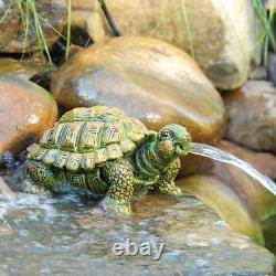 Turtle Spitter Pompe Aeration Water Garden Outdoor Fountain Decor Design Nouveau