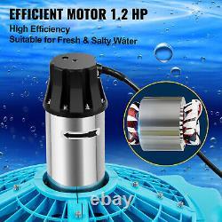 Vevor 1.2 HP Floating Pond Fontaine Aérateur 100 Ft Corde Moteur En Acier Inoxydable